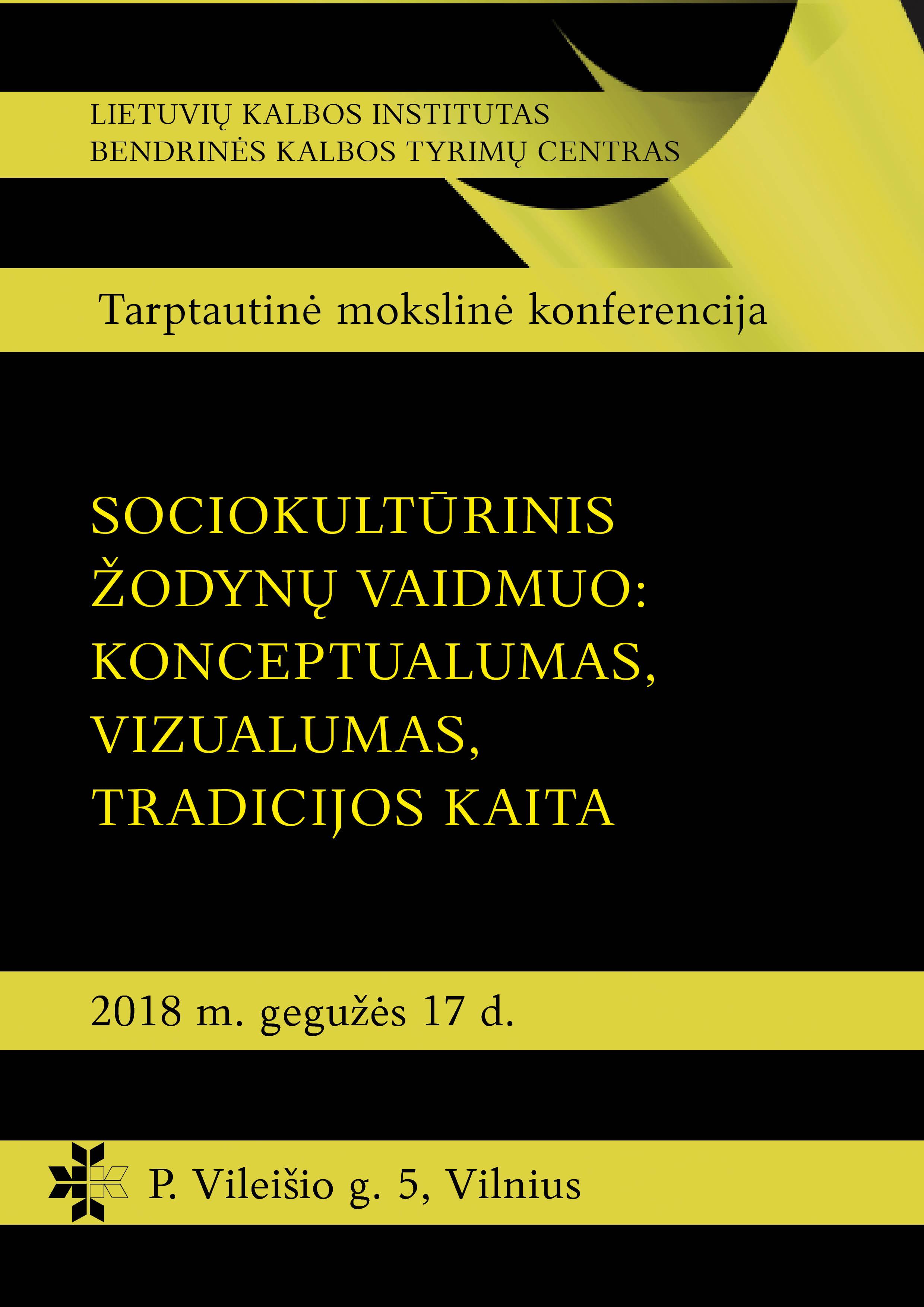 Konferencija Sociokultūrinis žodynų vaidmuo 2_