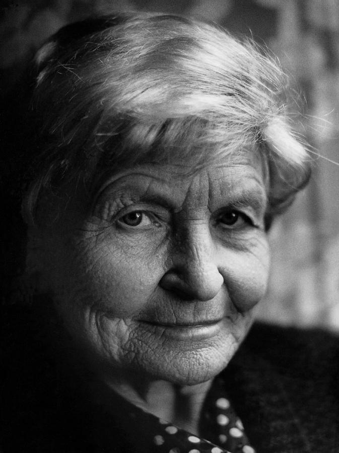 Marija Gimbutienė. Fotografas Antanas Sutkus.